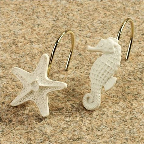 starfish shower curtain hooks the adorable of nautical shower curtain hooks tedx decors