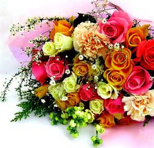 New Flowers 2013 - bunch of colorful roses