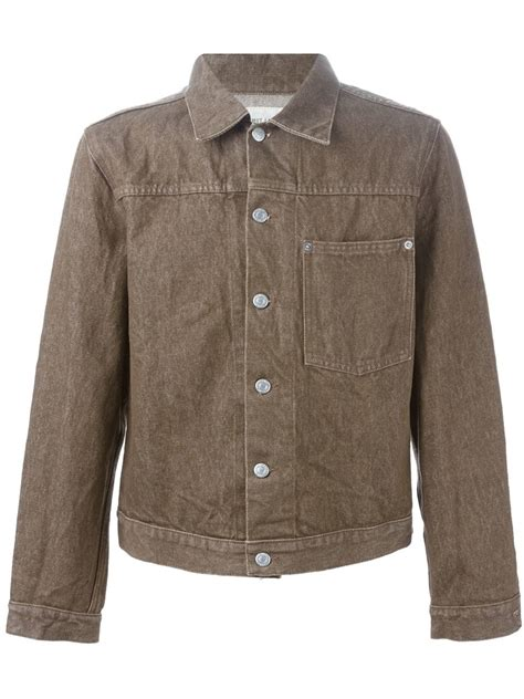 Denim Jackets For by Helmut Lang Classic Denim Jacket In Brown For Lyst