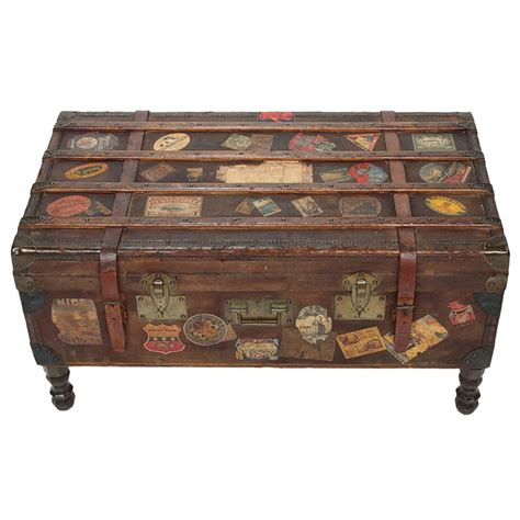 Vintage Trunk Coffee Table Vintage Travel Trunk Coffee Table By Arthur Eymann From Marseille At 1stdibs