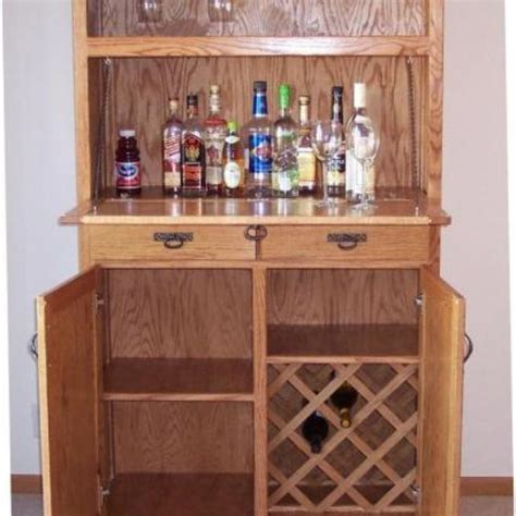 liquor cabinet hand crafted oak liquor cabinet by jay s custom woodwork