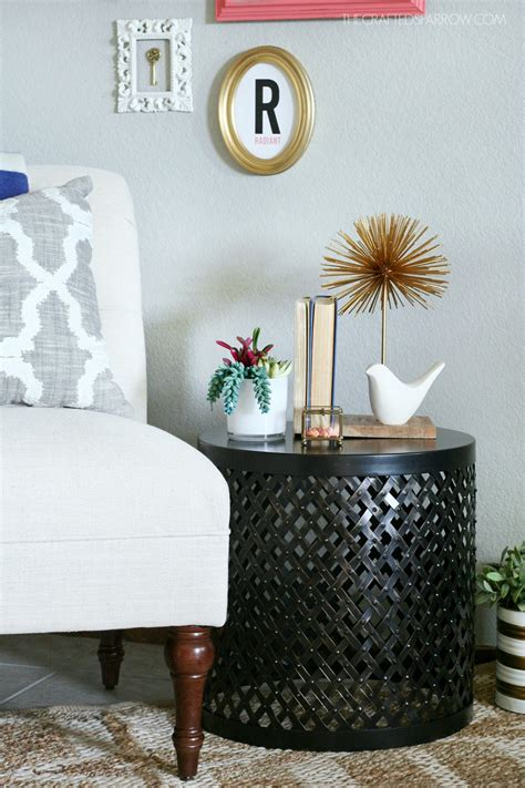 how to decorate a side table in a living room how to decorate the right end table