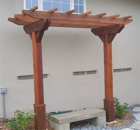 arbour benches wooden the 2 minute gardener photo wooden arbor with bench