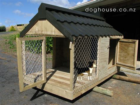 dog house with kennel dog house outdoor dog puppy houses kennels and runs auckland pukekohe waikato