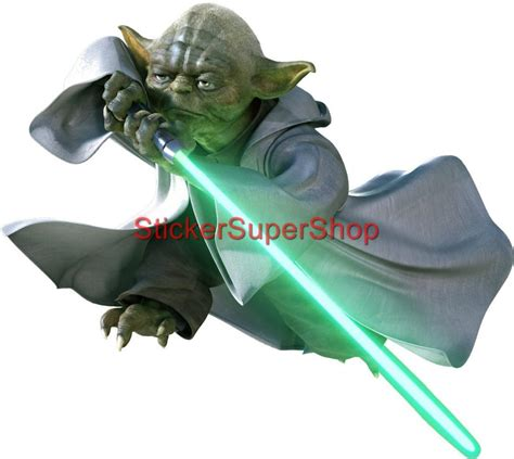 Star Wall Sticker choose size star wars yoda decal removable wall sticker