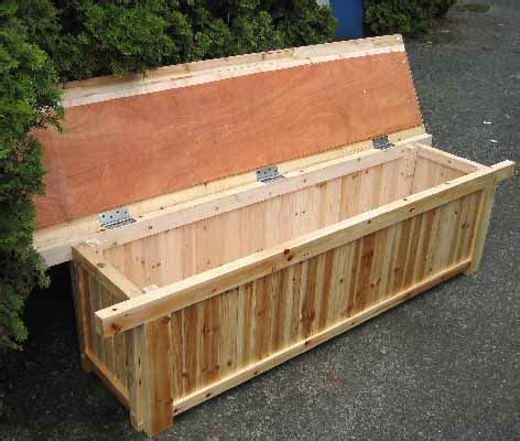 cedar storage bench outdoor storage bench with cushion furnitureplans