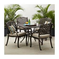 strathwood patio furniture strathwood bainbridge cast aluminum dining chair with cushion set of 2 patio lawn