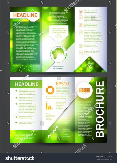 brochure booklet flyer layout template vector stock vector