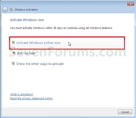 7 online com here and now activate windows 7 online windows 7 help forums