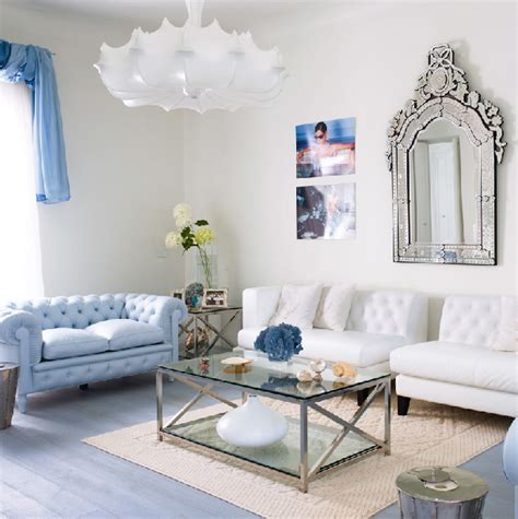 modern chic amazing light blue and white living room