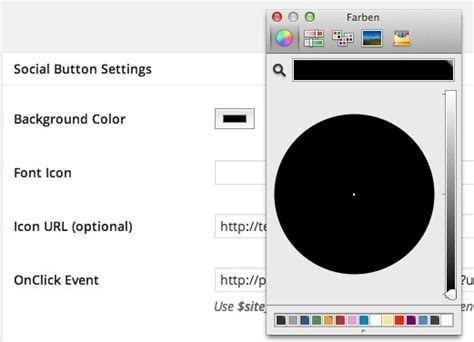 w3c color picker color picker in plugins und themes nutzen