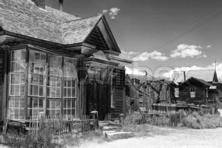 old buildings in bodie, an original ghost town from the
