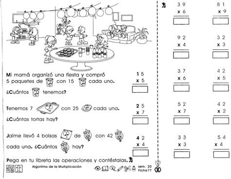 tercer grado educacin primaria part 7 algoritmo de la multiplicaci 243 n tercer grado pinterest