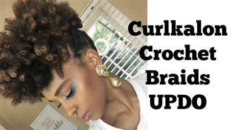 Curlkalon Crochet Braids Updo   I Am LilRedz   YouTube