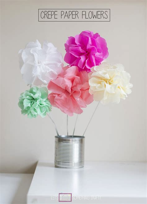 How To Make Flowers With Crepe Paper - how to make tissue paper flowers