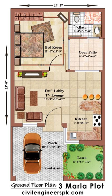 home design 4 marla 3 marla house plans civil engineers pk