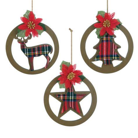 plaid silhouette christmas ornament set wholesale at