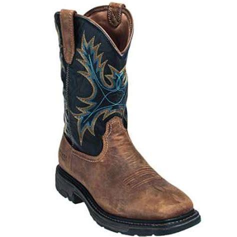 ariat waterproof boots ariat boots s 10010132 brown workhog waterproof