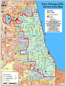 Chicago Metro Area Map by Pace Bus