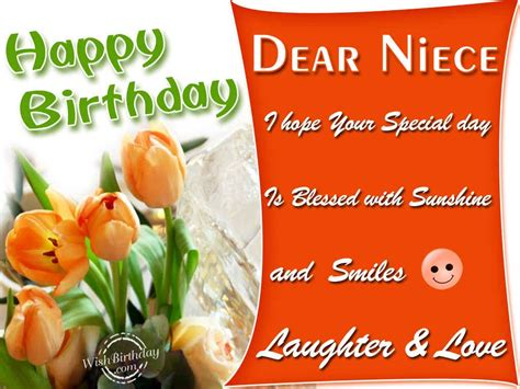 Happy Birthday Wishes Dear Niece Happy Birthday Dear Niece Wishbirthday Com
