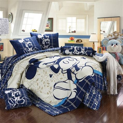 Mickey And Minnie Mouse King Queen Adults Cartoon Bedding Disney King Bedding Set