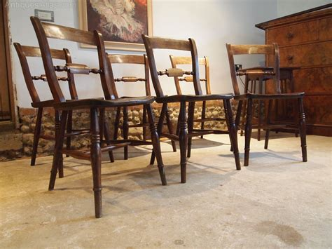 chairs set of 6 kitchen c1870 antiques