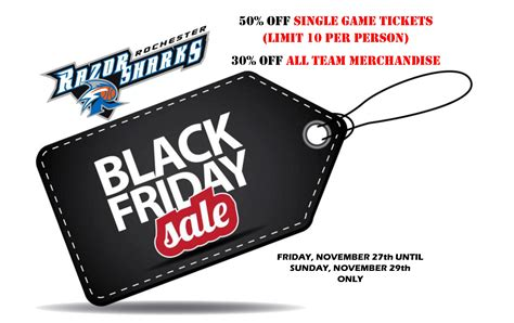 black friday fan deals black friday specials rochester razorsharks