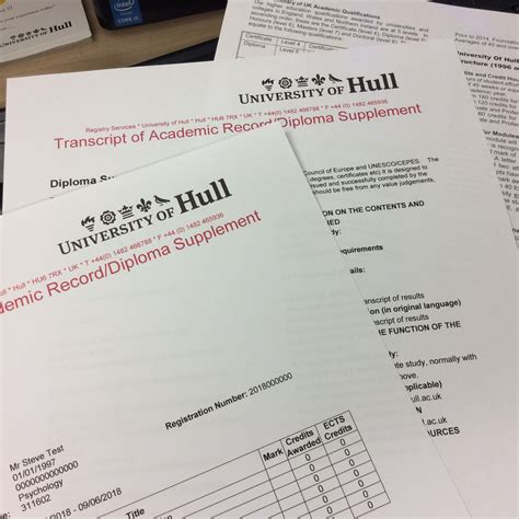Mba Grades Uk by Transcripts Of Hull Order And Payment
