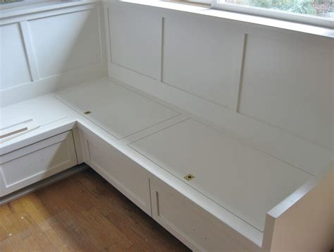 how to build a banquette with storage how to build banquette storage bench the clayton design
