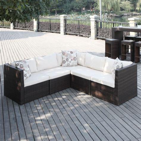 Portfolio Aldrich Brown Indoor Outdoor 5 Piece Sectional Small Outdoor Sectional Sofa