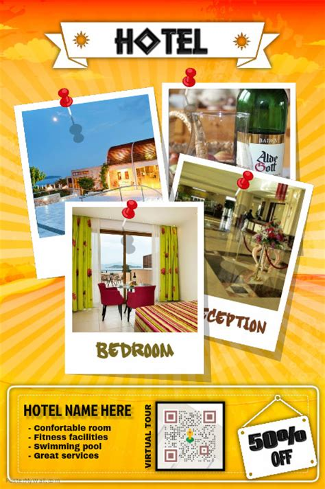 template flyer hotel hotel promotion flyer with a virtual tour qr code template