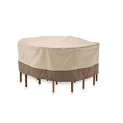 Patio Table And Chair Covers Classic Accessories 174 Veranda 54 Inch Bistro Patio Table And Chair Set Cover Bed Bath Beyond