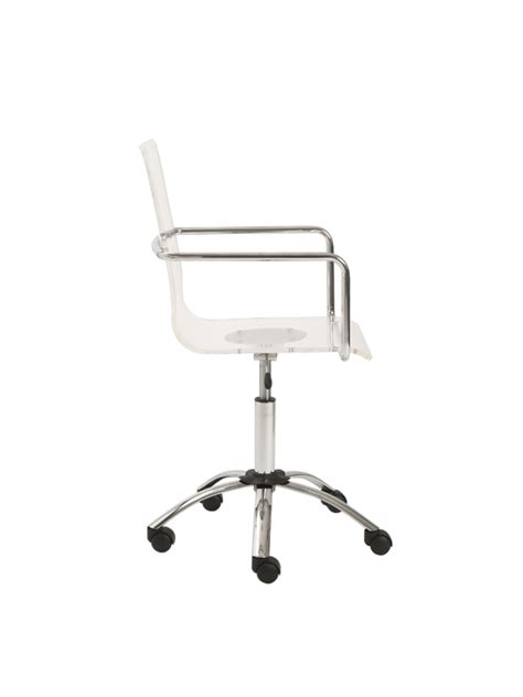 Clear Office Chair by Lucid Office Chair Modern Furniture Brickell Collection