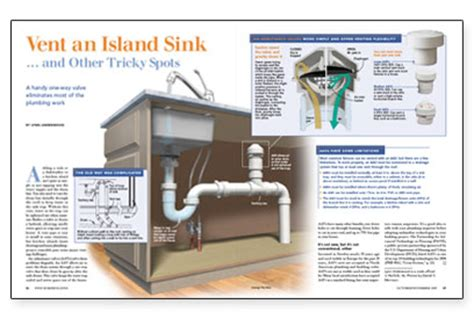 Island Plumbing Vent by How To Move A Sink On A Cement Foundation