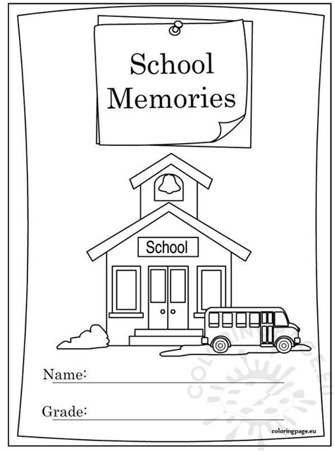 school year memory book coloring coloring page
