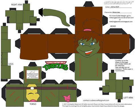 Tmnt Papercraft - tmnt7 mona cubee by theflyingdachshund on deviantart