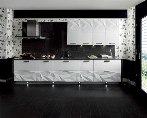 kitchen designs gloss white kitchen black backsplash