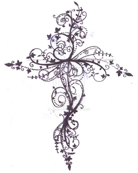 filigree cross tattoo cross designs the is a canvas