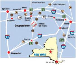 Cooperstown New York Map by Driving Directions Baseball Hall Of Fame