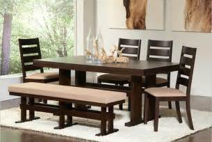 dining room table with bench 26 big amp small dining room sets with bench seating