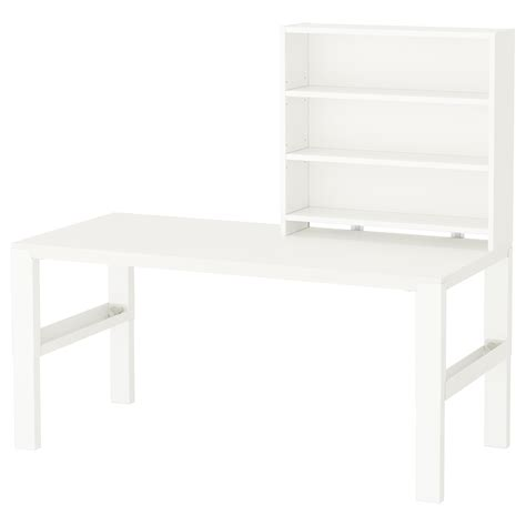 Desk Shelf Unit by P 197 Hl Desk With Shelf Unit White 128x58 Cm