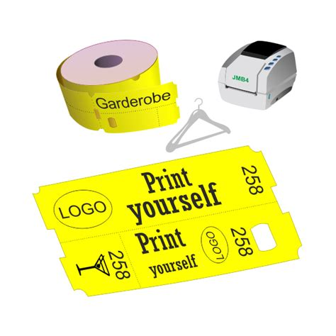 printable cloakroom tickets thermal cloakroom ticket rolls