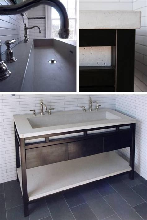 double trough sink bathroom trough sink bathroom pinterest