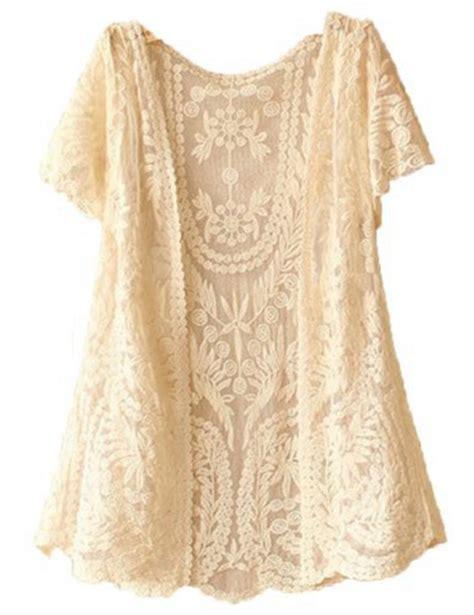 Boho Blouse Vest crochet knitted open vest boho casual summer coverup tops
