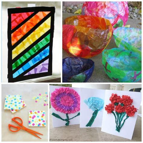 Tissue Paper Ideas Crafts - beautiful tissue paper crafts for what can we do