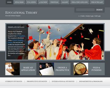 educational theory website template free website