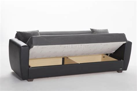 power beds power rainbow dark gray sofa bed in fabric by sunset