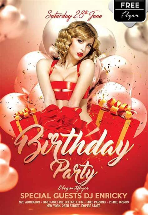 birthday flyer templates free 11 beautiful free birthday flyers templates utemplates