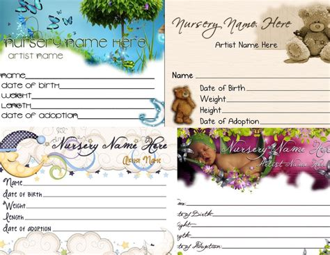 reborn birth certificate template free 1 custom matching reborn birth certificate with any reborn