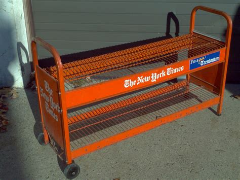 Rack New York by Vintage New York Times Newspaper Rack 171 Obnoxious Antiques